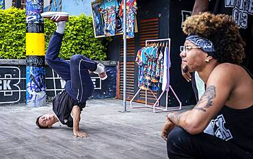 Black and White C-13, dancers of Hip Hop, Street art, Comuna 13, Medellín, Colombia