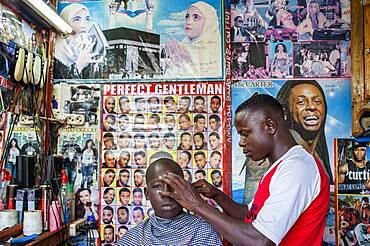 Barbers shop, Dakar, Senegal