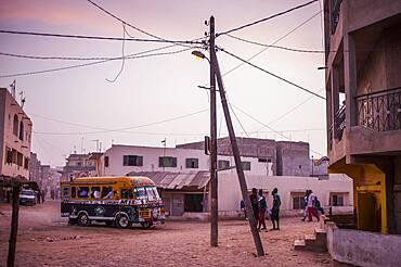 Street scene, medina quarter, Dakar, Senegal