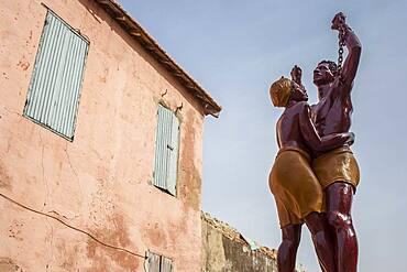 Statue Commemorating the End of Slavery, Goree Island, near Dakar, Senegal