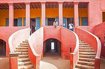 The Slave House, Island of Goree, UNESCO World Heritage Site, near Dakar, Senegal, West Africa, Africa