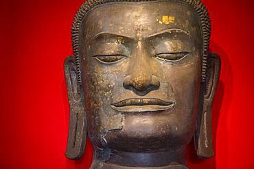 Buddha head, in Chao Sam Phraya National Museum, Ayuthaya, Thailand