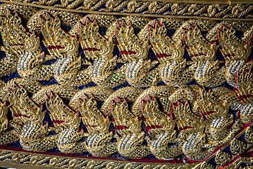 Ornamentation, detail of barge, Royal Barges National Museum, Thonburi, Bangkok, Thailand