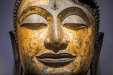 face, head, buddha, sculpture,statue,The National Museum,Exhibition Hall 1, Bangkok, Thailand
