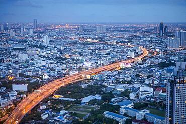 Skyline at night, downtown, Bangkok, Thailand