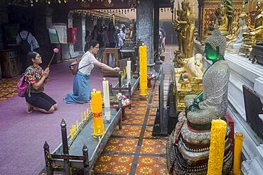 People praying, Wat Phra That Doi Suthep Temple of Chiang Mai, Thailand