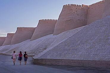 Walls of Ichon-Qala or old city, Khiva, Uzbekistan