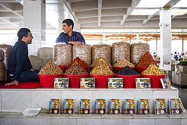 Dry food shop, Siob Bazaar, Samarkand, Uzbekistan