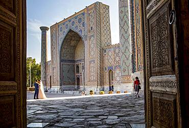 Ulugbek Medressa, Registan, Samarkand, Uzbekistan