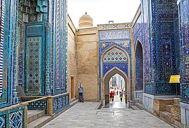 Tuman Aqa and Qutlugh Ata mausoleum, Shah-i-Zinda complex, Samarkand, Uzbekistan