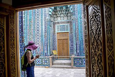 Qutlugh Ata mausoleum, Shah-i-Zinda complex, Samarkand, Uzbekistan