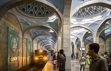 Alisher Navoi station, subway, Tashkent, Uzbekistan