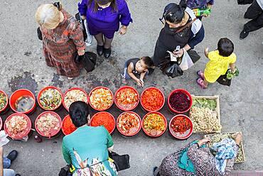 Pickled vegetables for sale. At Chorsu Bazaar,Tashkent, Uzbekistan