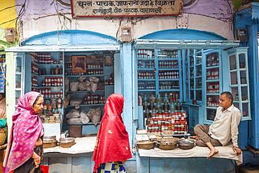 Spice shop, main bazaar,Historical Center, near Dashashwamedh Ghat Road , Varanasi, Uttar Pradesh