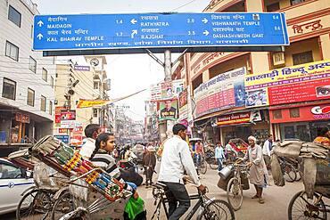 Godowlia Crossing ,downtown, Varanasi, Uttar Pradesh, India.