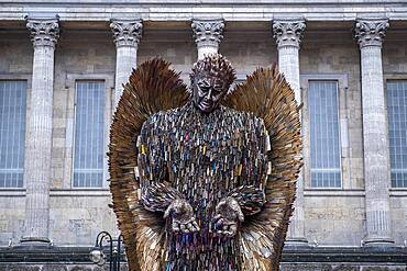 The Knife Angel sculpture by Alfie Bradley in Victoria Square, Birmingham, England