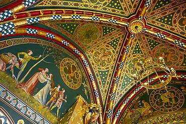 Cardiff Castle, The winter smoking room, Cardiff, Wales