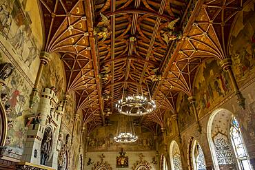Cardiff Castle, Banquet Hall, Cardiff, Wales