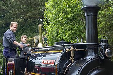 Show for children, Vale of Rheidol Steam Railway,  Devil's Bridge Station, Wales