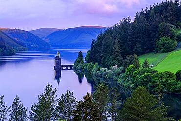 Lake Vyrnwy, in the middle of the Berwyn mountain range, Powys, Wales