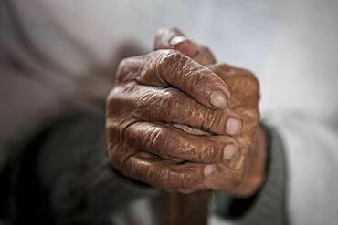 Hands of widow , Vrindavan, Mathura district, India