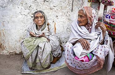 Widows begging, Vrindavan, Mathura district, India