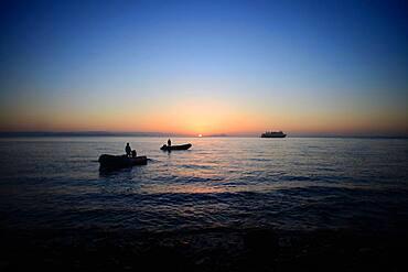 Sunset in Sea of Cortez, Baja California, Mexico