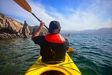 Kayaking in the Sea of Cortez, Baja California, Mexico