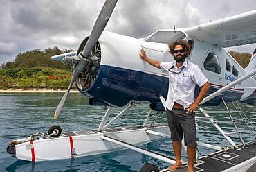Pacific Island Air flight company in Fiji. Boat plane off West coast of Viti Levu, Fiji, Pacific Islands, Pacific