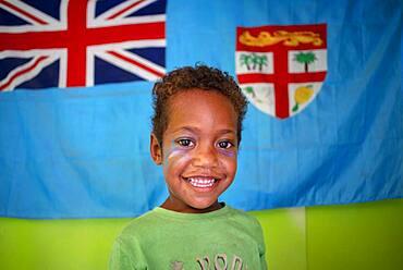 Boy, Local people living in Solevu island and Yaro island in Malolo Island Mamanucas island group Fiji