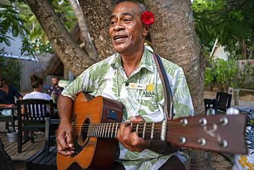 Tradtional Fijian songs and music in Malolo Island Resort and Likuliku Resort, Mamanucas island group Fiji