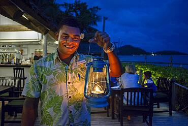 Fine restaurant in Malolo Island Resort and Likuliku Resort, Mamanucas island group Fiji