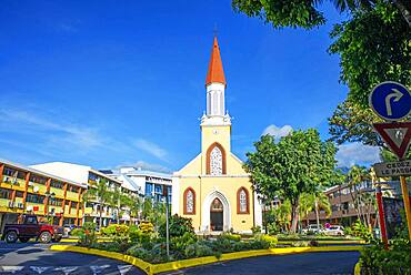 Cathedral of Our Lady of the Immaculate Conception of Papeete, Tahiti island, french Polynesia