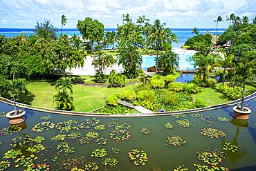 Meridien Hotel on the island of Tahiti, French Polynesia, Tahiti Nui, Society Islands, French Polynesia, South Pacific.