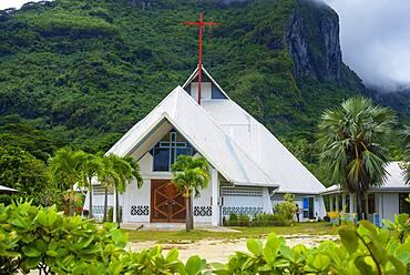 St Pierre Celestin church in Vaitape Bora Bora French Polynesia