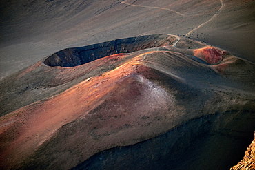 Cinder cones inside the Haleakala crater, Maui, Hawaii, USA