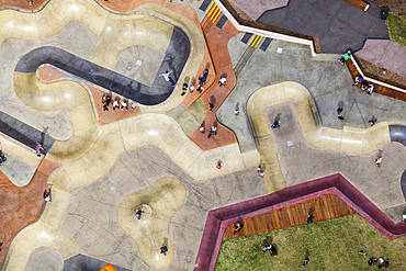 Skate park at Marina Triangle Reserve, in St Kilda.