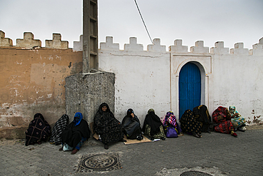 Women waiting in the streets of Tiznit