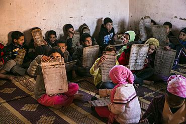 Children in the madrassah in the Tafrout region in the Anti-Atlas