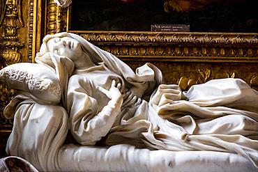 Blessed Ludovica Albertoni sculpture frome Bernini in San Francesco a Ripa church