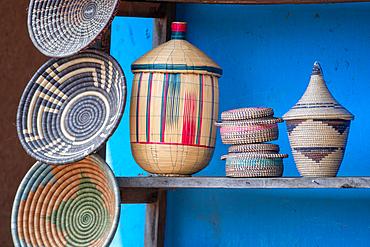 Hand made baskets at curio shop Volcanos National Park, Rwanda