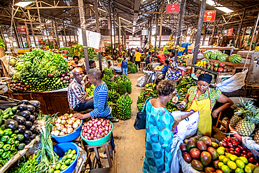 Fresh produce for sale, Kimironko Market, Kigali Rwanda