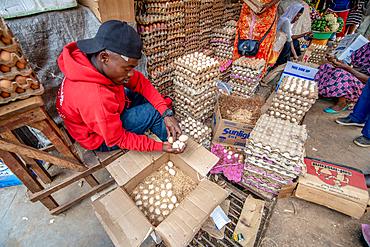 Eggs for sale, Kimironko Market, Kigali Rwanda