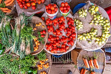 Produce for sale, Kimironko Market, Kigali Rwanda