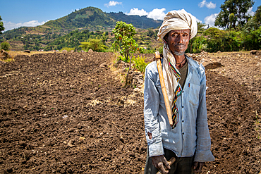 Portrait of an Ethiopian farmer, Debre Berhan, Ethiopia.