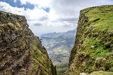 A ravine outside of Debre Berhan, Ethiopia.