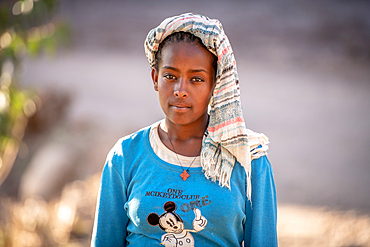 Portrait of a young Ethiopian girl, Ankober, Ethiopia