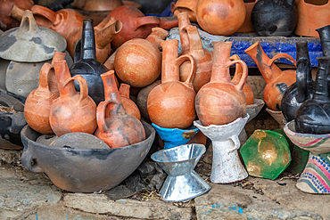 Clay jugs and pots for sale, Mekele, Ethiopia