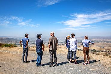 Tourist overlooking the Danakil Depression, Ethiopia
