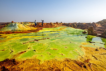 Dallol hydrothermal hot springs in the Danakil depression at the Afar Triangle, Ethiopia